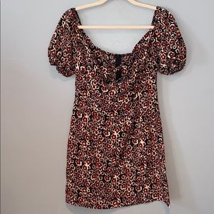 Woman's Nasty Gal Multicolor Floral Mini Dress 6